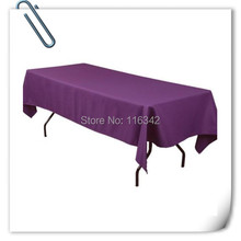 Big Discount  !!! 10pcs 150*320cm  Rectangle  Purple table cloth 180GSM For Wedding Events &Hotel & Banquet Free shipping