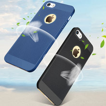 Breathe Freely for iphone 5s Case coque net Breathable Mesh Radiating Design full protection cover capa funda for iphone 5 5s se(China)