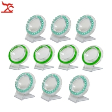 Wholesale 10Pcs Clear Jewelry Bracelet Display Holder Bangle Organizer Rack Acrylic Bracelet Display Collar Stand Holder(China)