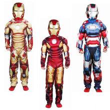 Floating Muscle Magnetic Iron Man Costume Movie Cartoon Cosplay Costume Carnevale Kids Carnival Costumes For Children