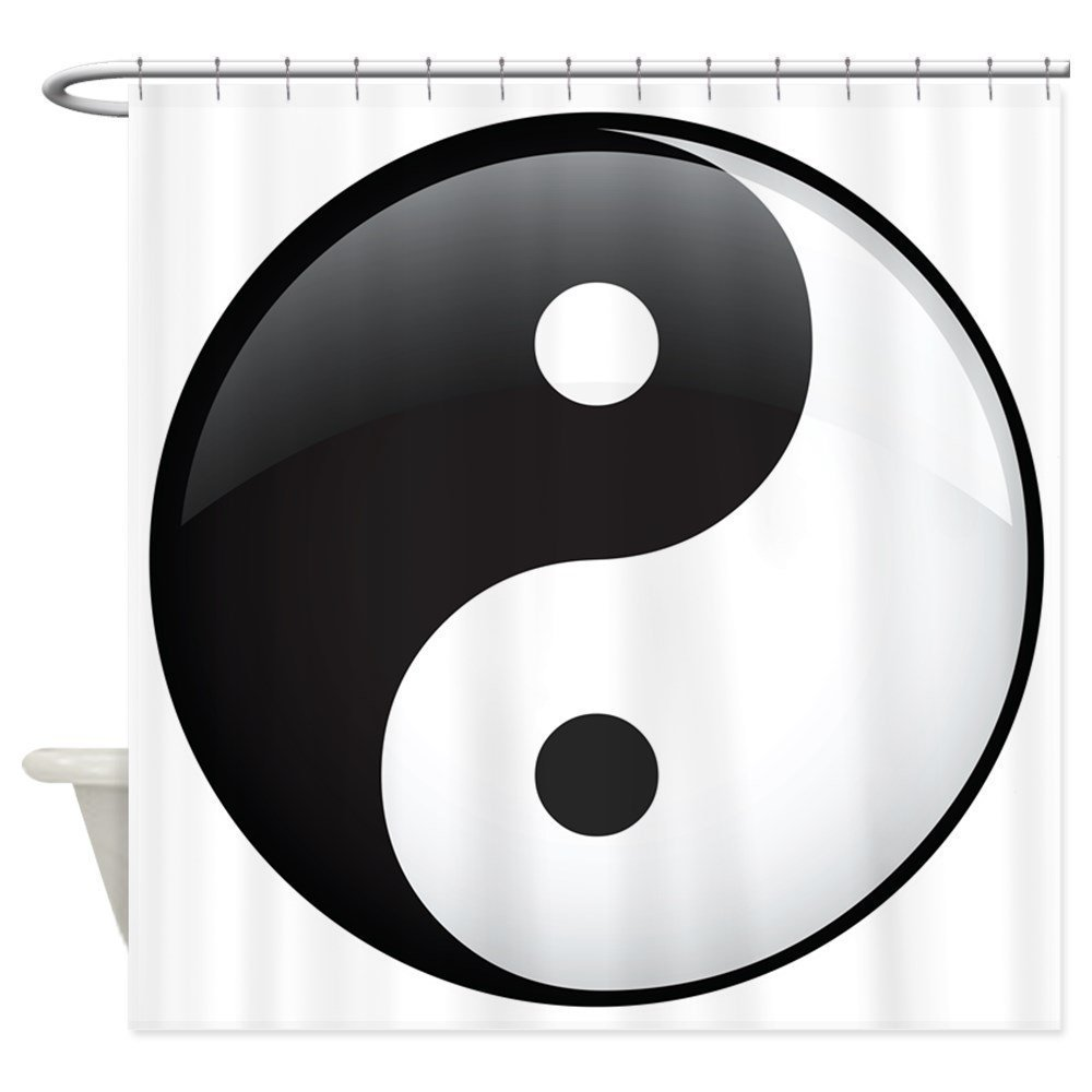 asian bathroom lighting. memory home yin yang black and white decor collection asian zen themed waterproof polyester fabric bathroom lighting o