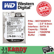 Western Digital WD Black 750GB hdd 2.5 SATA disco duro laptop internal sabit hard disk drive interno hd notebook harddisk disque