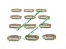 2.8cm 6 Teeth Hair Clip for Hair Extensions,Toupees Clips,Wig Clips,Hair Extensions Tools,Light Brown,100pcs,Free Shipping