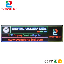 P6 outdoor LED Display screen 6.55ft x 1.8ft Size 2m x 0.55m Shop Window Scrolling Advertising Media project(China)