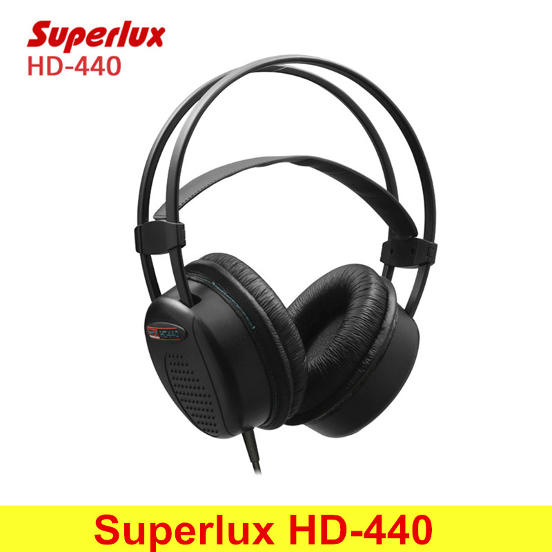 Superlux HD-440 Wired Headphone Booming Bass Stereo Dynamic Closed-back Headset with Auto-adjustable Headband Noise Reduction<br>