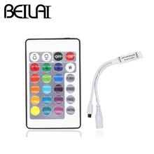 BEILAI DC 12V 24Key Mini LED RGB Controller IR Remote Control For SMD 5050 2835 3528 3014 RGB LED Strip Light Tape(China)