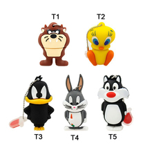 usb flash drive 64gb duck cat rabbit dog Tweety bird Cute Cartoon pen drive 16GB flash memory stick drive u disk pendrive