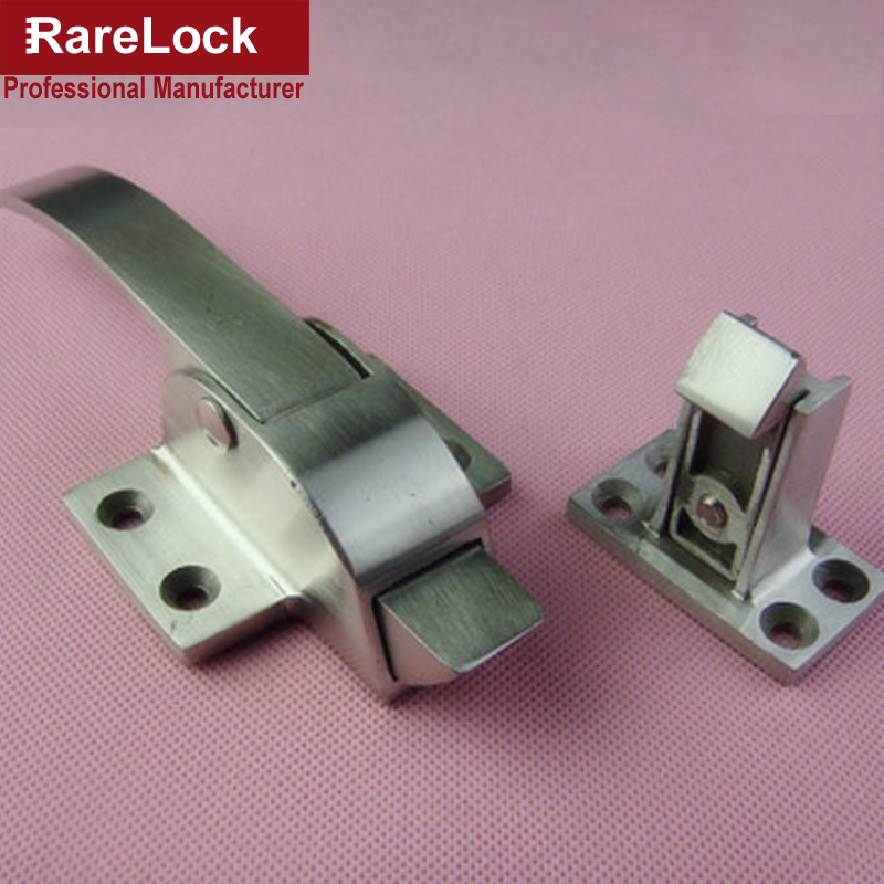 Rarelock Cold Storage Lock Oven Locks Stainless Handle for Cabinet Equipment Spring Lock DIY Hardware Accessory a<br>