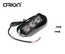 CIRION New 6W High Power 3 LED Waterproof Car Truck Emergency Strobe Flash warning light Amber Red Blue Green 12V/24V Universal