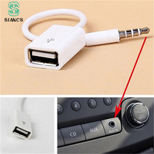 SIANCS Jack 3.5 AUX Audio Plug To USB 2.0 Converter USB Aux Cable Cord For Car MP3 Speaker U Disk USB flash drive Accessories
