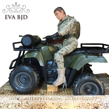 1/6 BJD Doll Soldier dolls Action Figure Justice red division 4WD Biker Army Model Toys for children with 4WD motor DB016-03