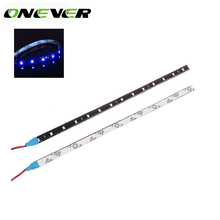 "30cm Car Flexible LED Light High Power 12V 11.8"" 15SMD Waterproof LED Daytime Running Light Decorative Car DRL(China)"