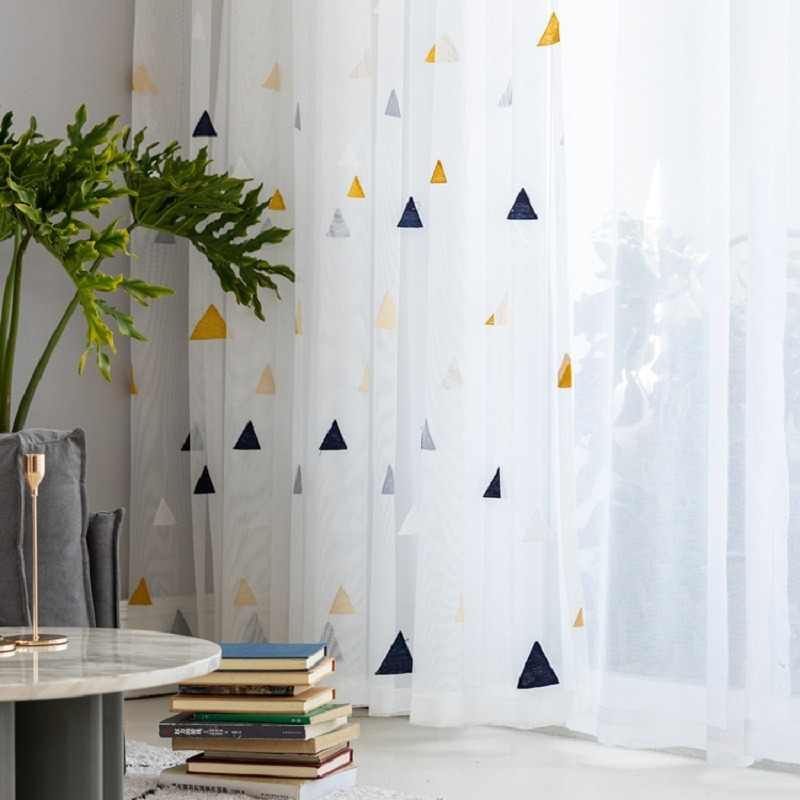 Sheer Tulle for Living Room Modern Home Decorative Curtains Window Curtain Bedroom Study Kids Room S179&30