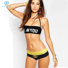Buy PINK HERO Underwear Wom Brand New Classical Fashion Cartoon Printed Cotton Women Fade Lace Triangle Underwear Sexy Panties