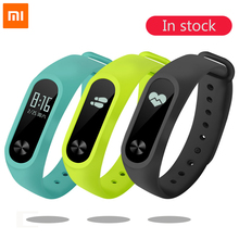 Buy Original 100% Xiaomi Mi Band 2 Smart Fitness Bracelet Watch Wristband Miband OLED Touchpad Sleep Monitor Heart Rate Mi Band2 for $17.98 in AliExpress store