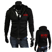 2016 New Fashion Autumn Men's Hoodies AC/DC Print Men Jacket Hooded High-quality Autumn Winter Korean Slim Fit Man Sweatshirts(China)