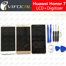 hacrin Huawei Honor 7 LCD Display + Touch Screen 100% New Digitizer Assembly Replacement 5.2 Inch FHD Mobile Phone Accessories
