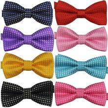 Polka Dots Kids Toddler Boys Girls Bowtie Pre Tied Bow Tie Necktie Multi-Colors New