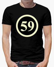 Spring Low price mens t shirt FIFTY NINE Short Character Cotton 3d Print Clothing