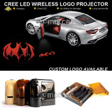 Universal Fit Auto Car Door Step Ground LED Welcome Laser Projector Batman Logo Ghost Shadow Puddle GOBO Emblem Spotlight(China)