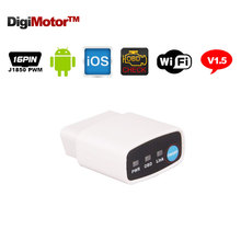 ELM 327 V1.5 Wi Fi OBD2 Wifi ELM327 Adapter OBD 2 Wi-Fi Android iOS Diagnostic Tool Car Scanner Automotive Auto Code Reader