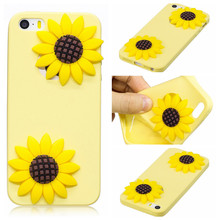 "Phone Case For iPhone 5s/5/se Case 4"" Soft watermelon Sun flower cute TPU Fashion protection case phone For iPhone5G phone case(China)"