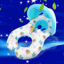 Baby Swimming Neck Ring With Visor Mother And Children Swim Circle Inflatable Safety Swimming Rings Float Seat(China)