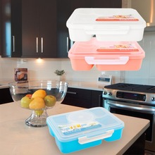 2017  1 set Portable Microwave Bento Cutlery Set for Kids 5+1 Food Container Storage plastic carrying Food Box Lunchbox