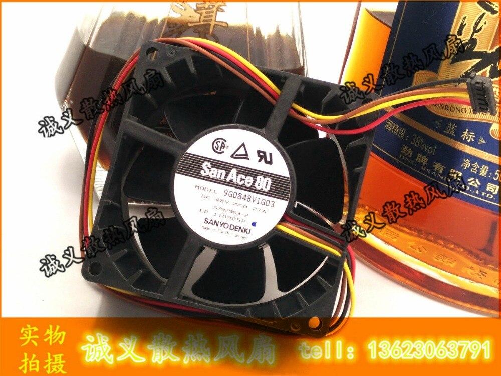 Free shipping sanyo 9g0848v1g03 48v 0.27a 8038 80x80x38mm <br>