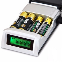 Original C905W 4 Slots LCD Display Screen Smart Intelligent Battery Charger for AA / AAA NiCd NiMh Rechargeable Batteries Sale