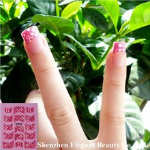 wholesale new arrival XF875-XF878 serial 3D Nail Art stickers seal French tip 500pcs/lot free EMS/DHL/UPS/TNT shipping