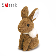 Semk Cute Plush Rubbit Toys Cartoon Soft Stuffed Animal Dolls Children Birthday Gift(China)