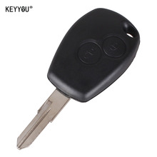 KEYYOU 2 Button Remote Car Key Shell Case For Renault Megane Modus Espace Laguna Duster With LOGO