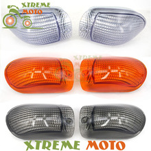 Motorcycle Turn Signal Bulb Indicator Light Case Cover For Kawasaki ZZR1100 ZZR 1100 ZX-11 1990 1991 1992 90 91 92