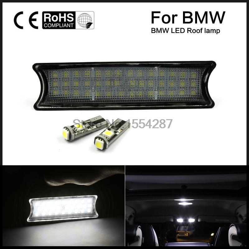Free shipping For 98-05 BMW E46 2D M3 4D COUPE WHITE LED INTERIOR ROOF LAMP LIGHT KIT DC 12V 42SMD led overhead dome light<br><br>Aliexpress