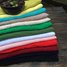 Crinkled Cotton Material Plain Dyed Pure Cotton Crepe Fabric For Scarfs