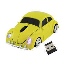 Free shipping Xmas Gift 3D USB Optical Wireless Computer Mouse Car VW Beetle Shape Cord Mice Bug Beatles for PC Laptop & Desktop
