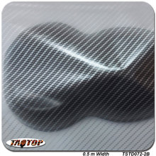TSST072-2 silver transparent carbon fiber 0.5M * 2M Popular Hydro Dipping Hydrographics Film Water Transfer Printing Films(China)
