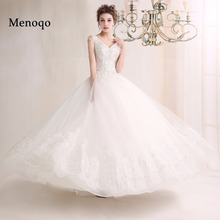 Fast shipping Low Price sexy V neck beautiful sexy ball gown Wedding Dresses vestidos de noiva robe de mariage(China)