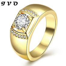 New Fashion Gold Plated Zircon Ring Engagement Rings Wedding Rings For Men