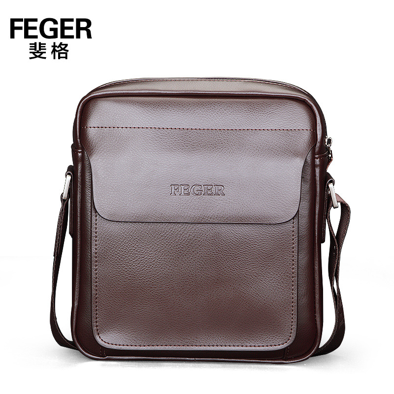 FEGER Mens GAENUINE Leather Multifunction Business Mens Large Capacity Document Bag Single Shoulder Messenger Bag<br><br>Aliexpress