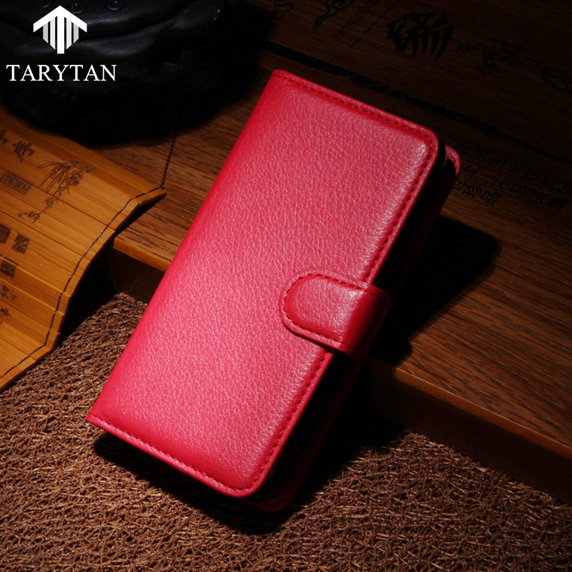 TaryTan Flip PU Litchi Leather Phone Cases Doogee Homtom HT17 5.5 INCH Covers Card Holder Back Bags Shell Skin