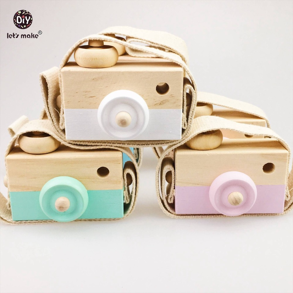 Baby Kids Cute Wood Camera Wooden Toys Children Fashion Clothing Accessory Toys Birthday Children's Day Gift Blocks