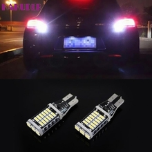 Hot Sale Universal 2X T15 W16W 4014 30SMD LED 7W Car Turn Singal Brake Stop Light Bulb SEP 5(China)