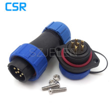 SP2110, IP68 electrical waterproof welding cable connectors 6 pin male and female ,Screws panel mounting waterproof connector