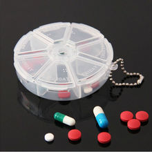 Mini Portable 7 Day Daily Pill Organizer Box Secure Case Large Compartment 1PCS