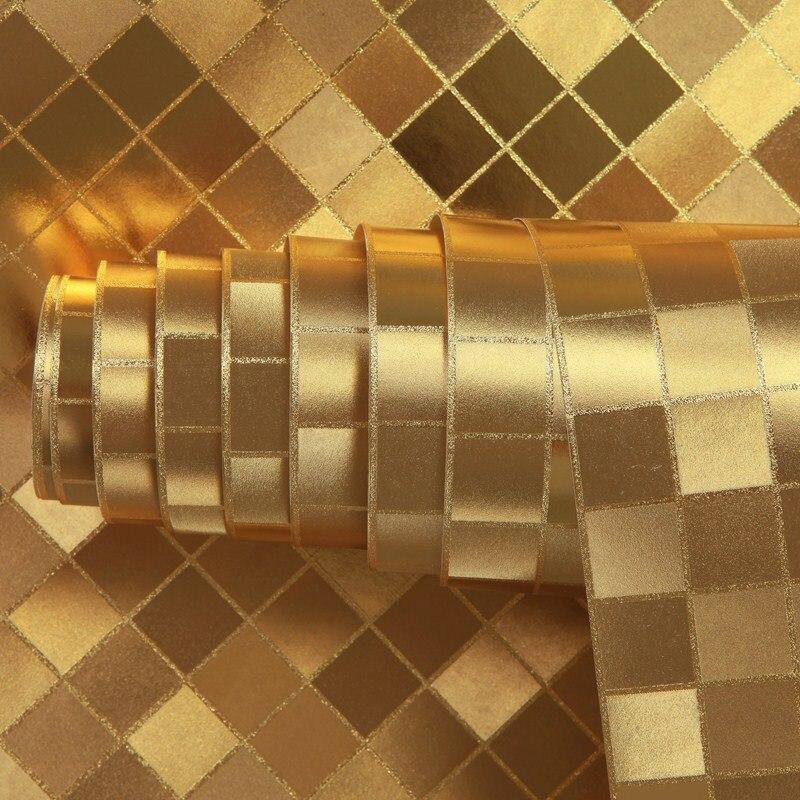 beibehang Mosaic waterproof KTV Gold foil silver bar wallpaper roll mural papel de parede 3D flocking wall paper papel contact<br>