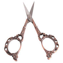 1PC Vintage Floral Pattern Scissors Seamstress Plum Blossom Cross-Stitch Scissor Antique Sewing Scissor for Fabric Tool EJ877883(China)