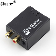ONLENY Digital Optical Coaxial Toslink to Analog RCA L/R Audio Converter Converts  Digital to Analog Audio Converter