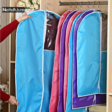 1PCS Window Clothes Dust Cover Moisture Proof Dress Jacket Garment Suit Coat Protector Wardrobe Storage Bag Hanger Organizer